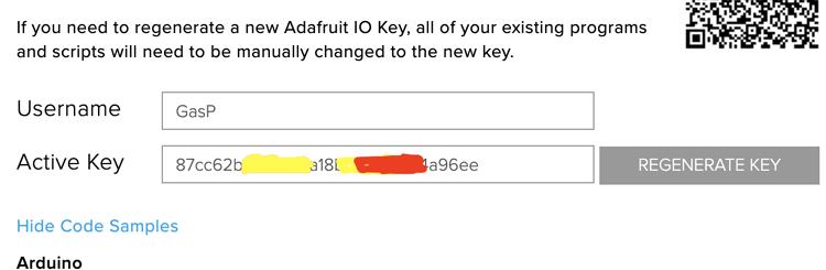 Получение ключа доступа (AIO key) на Adafruit IO