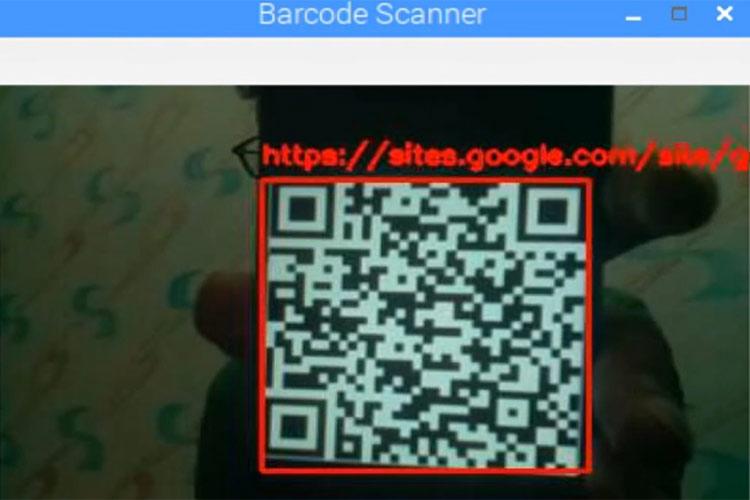 Отображение результатов распознавания QR кода