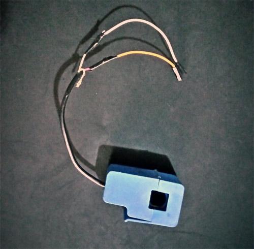 Внешний вид трансформатора тока, использованного в нашем проекте