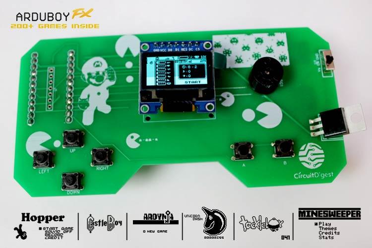 Внешний вид портативной игровой консоли на основе Arduino и Arduboy