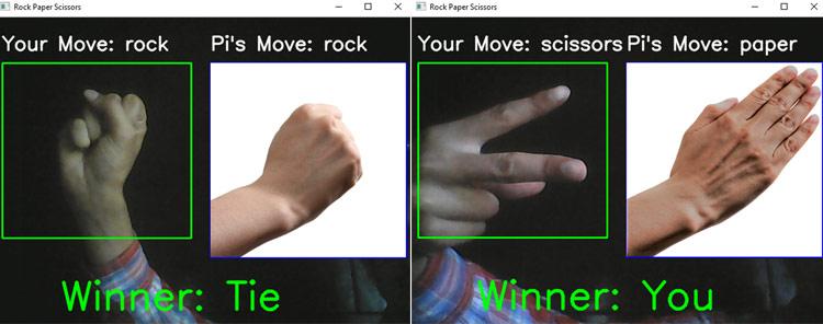 Тестирование работы проекта распознавания жестов