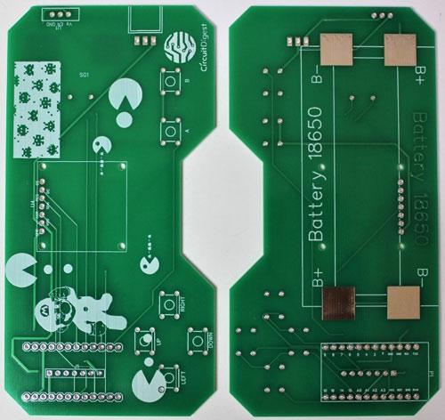 Внешний вид изготовленной печатной платы для игровой консоли
