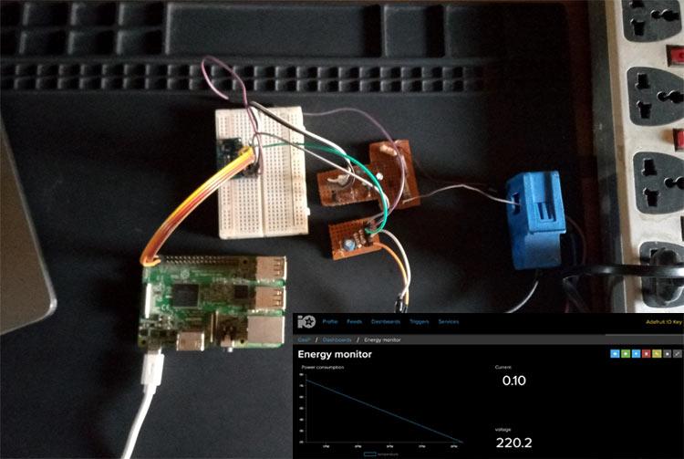Внешний вид умного измерителя электроэнергии на основе Raspberry Pi