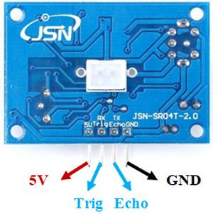 Назначение контактов (распиновка) датчика JSN SR-04T