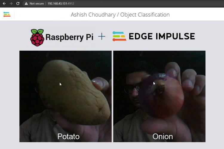 Внешний вид проекта распознавания объектов на Raspberry Pi с помощью Edge Impulse TinyML