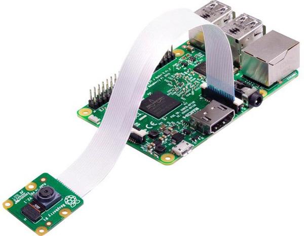 Подключение модуля камеры к плате Raspberry Pi