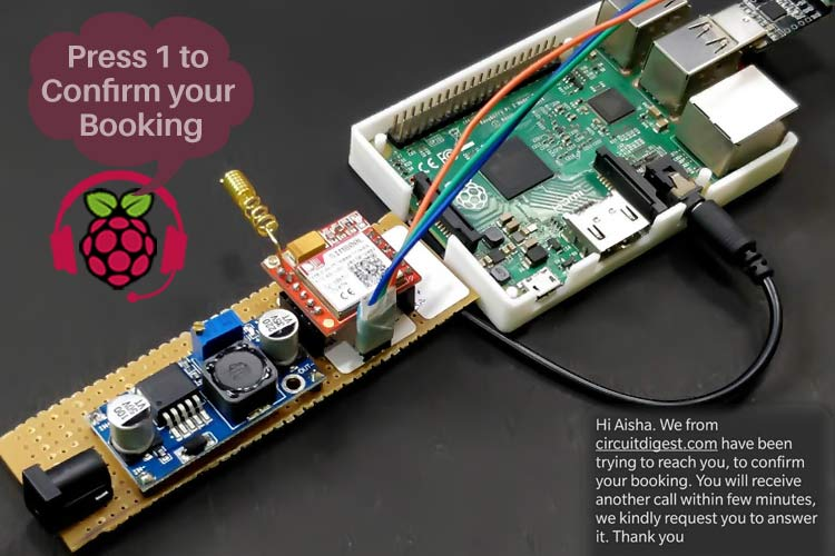 Внешний вид интерактивного автоответчика на Raspberry Pi и GSM модуле SIM800L