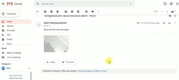 Внешний вид оформления электронного письма в нашем проекте