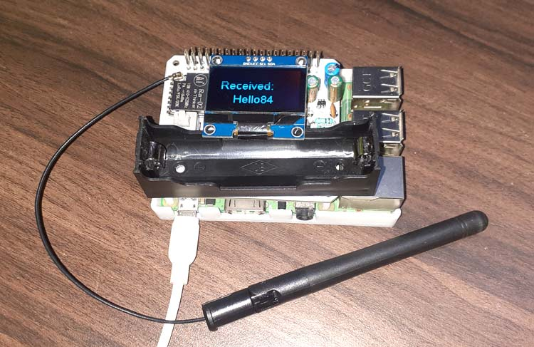 Внешний вид платы расширения (HAT) LoRa для Raspberry Pi
