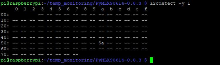 Определение I2C адреса датчика MLX90614