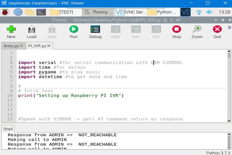 Внесение изменений в код программы проекта