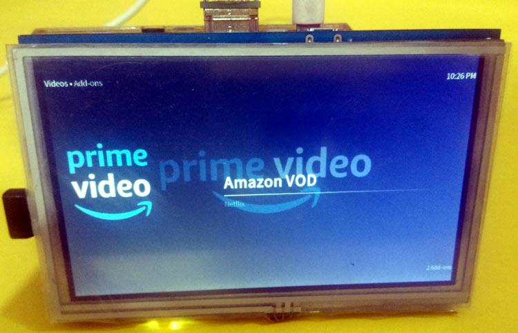 Просмотр Amazon prime video на 5-дюймовом TFT дисплее для Raspberry Pi