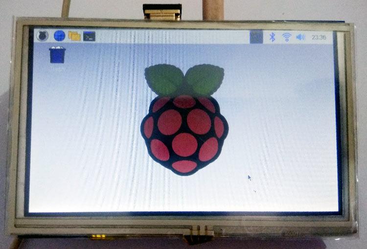 Дисплей для Raspberry Pi готов к работе