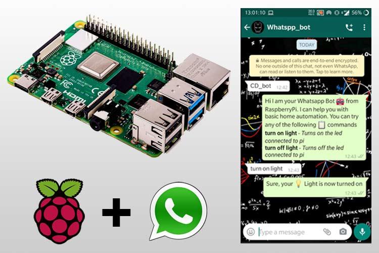 Внешний вид WhatsApp бота на Raspberry Pi для проекта автоматизации дома