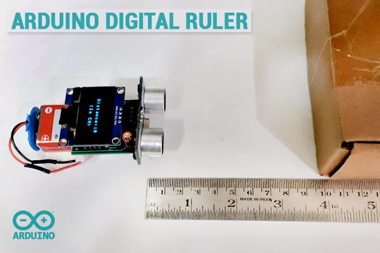 Внешний вид цифрового измерителя расстояния на ATtiny85