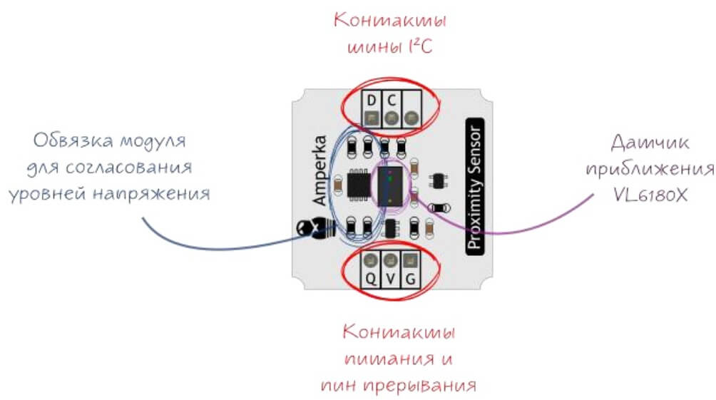 Распиновка датчика VL6180X