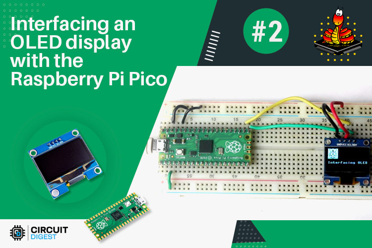 Внешний вид проекта подключения OLED дисплея SSD1306 к Raspberry Pi Pico
