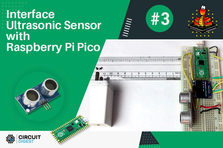 Внешний вид проекта подключения ультразвукового датчика к Raspberry Pi Pico