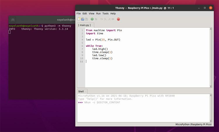Код нашей программы в Thonny IDE