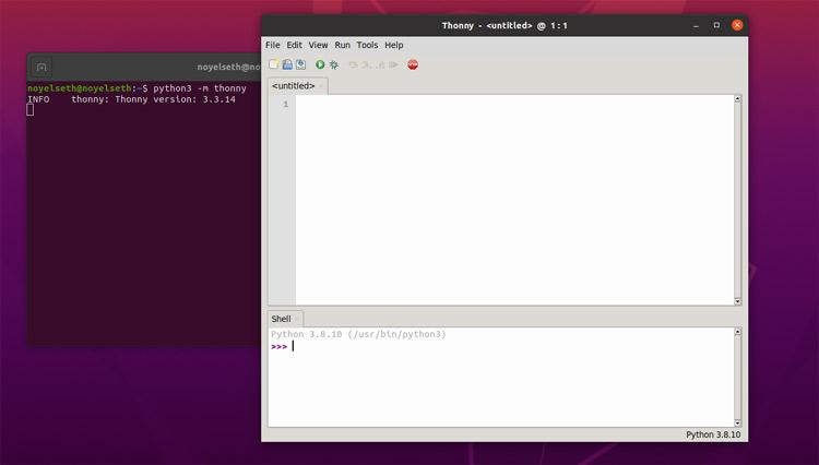 Открытие Thonny Python IDE