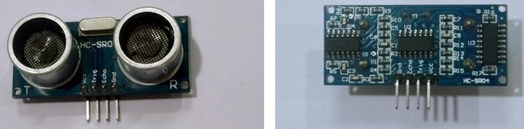 Внешний вид ультразвукового датчика HC-SR04
